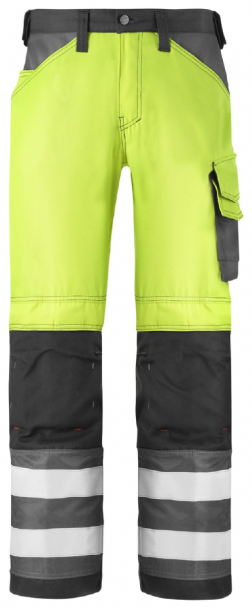 Snickers 3333 High-Vis Trousers, Class 2 (High Vis Yellow/ Muted Black)